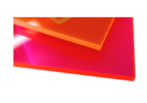 "Midland Acrylic Sheet, 1/4"" x 12"" x 24"", Orange"