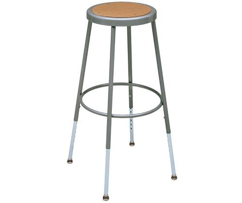 """Krueger Industrial Masonite Seat Stool, Adjustable-Height, 19"""" to 27"""""""