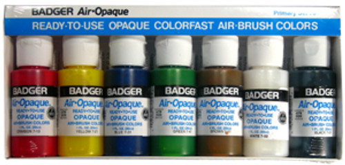 Badger Air-Opaque Paint Primary Set