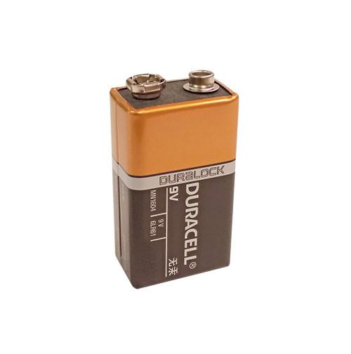 Duracell Coppertop Alkaline Battery, 9V