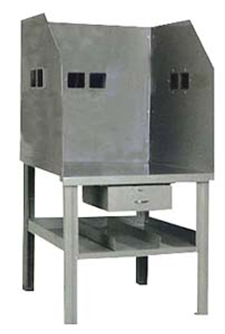 Pucel All-Steel Arc Welding Bench with See-thru Shields