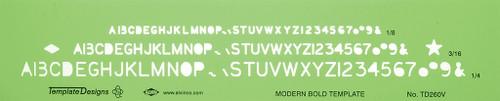 Alvin Modern Bold Lettering Template