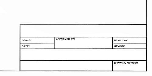 """Alvin Alva-Line 100% Rag Vellum Tracing Paper Title Block & Border, 17"""" x 22"""""""