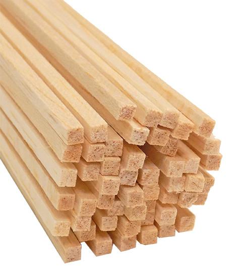 6 BWS1086 Balsa Wood 3//8 X 3//8 X 36