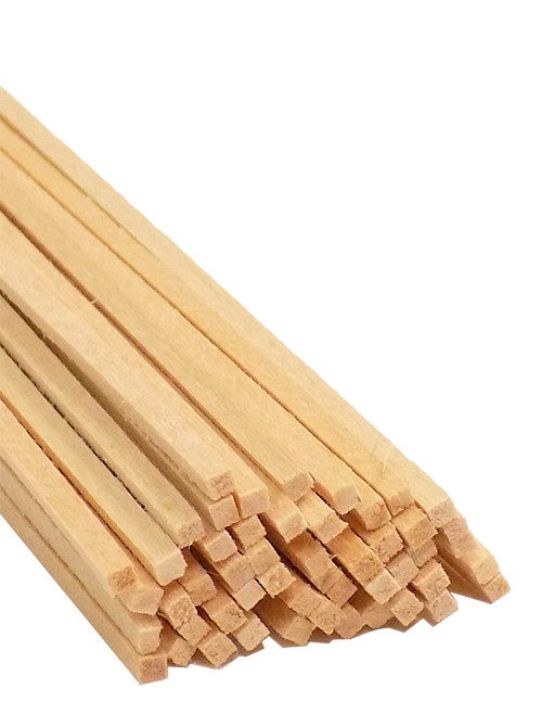 "Bud Nosen Basswood Strips, 1/16"" x 1/16"" x 24"", 50/pkg."