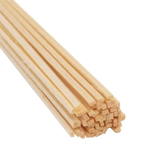"Bud Nosen Basswood Strips, 1/32"" x 1/16"" x 24"", 50/pkg."