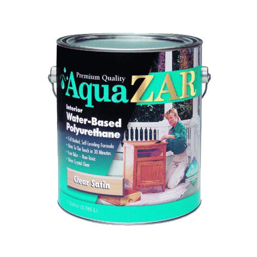 Zar Aqua-Zar Water-based Polyurethane, Satin, Qt.