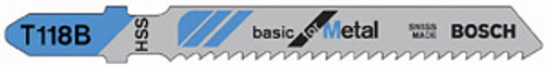 Bosch T-Shank HSS Jig Saw Blades, 24 TPI, For thin material