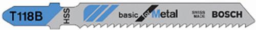 Bosch T-Shank HSS Jig Saw Blades, 8 TPI, For Metal Curve Cuts