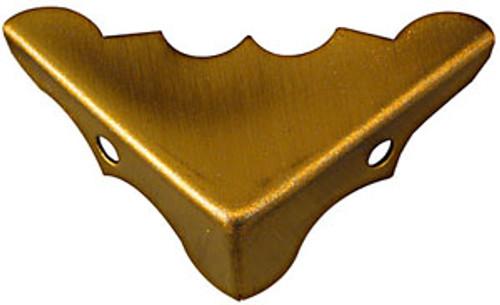 "National Box Corners, Antique Brass, 9/16"" x 1-1/4"""