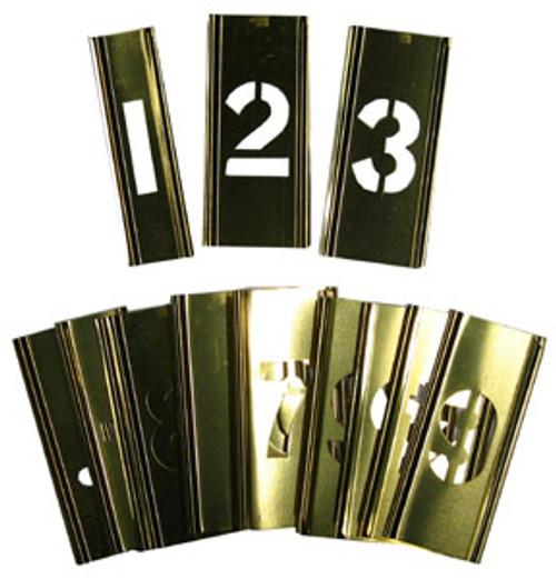 """Young Bros. Brass Interlocking Stencils 15-Piece Figure Set, 1"""""""