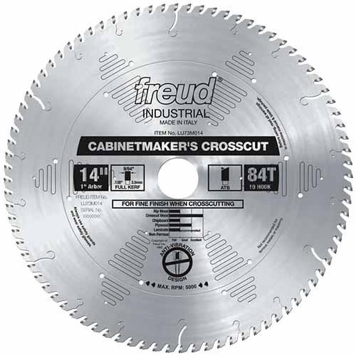 "Freud Cabinetmaker's Crosscut Blade LU73M, 14"""