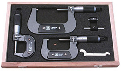 Chicago Brand Outside Micrometer Set, 0-6""