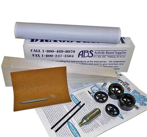 ABS CO2 Dragster Individual Kit, Balsa Wood