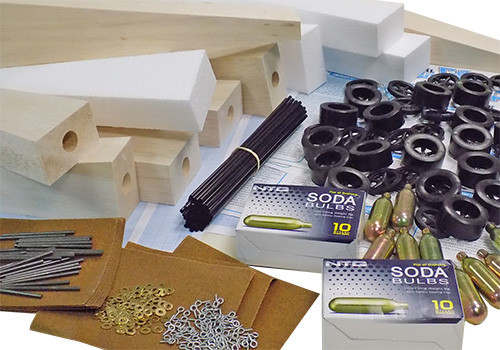 ABS CO2 Dragster 50 Kit Class Pack, Basswood