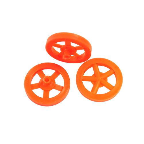ABS Front Dragster Wheels, Neon Orange
