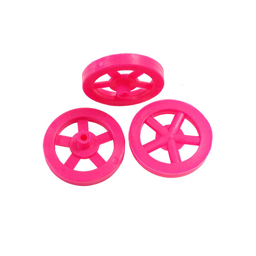 ABS Front Dragster Wheels, Neon Pink