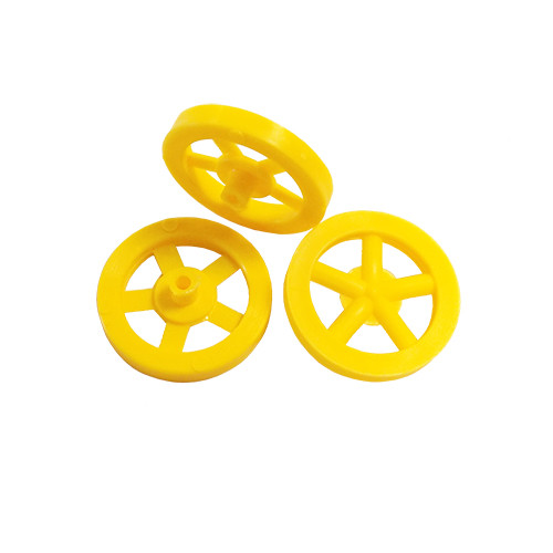 ABS Front Dragster Wheels, Neon Yellow