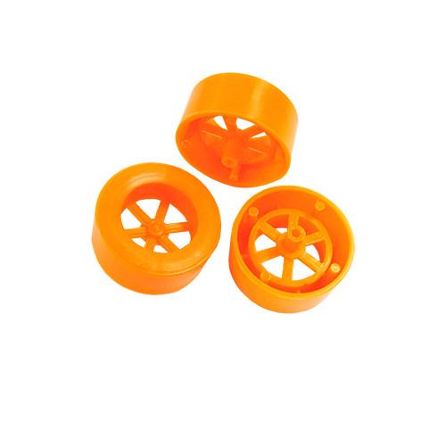 ABS Rear Dragster Wheels, Orange