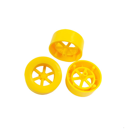 ABS Rear Dragster Wheels, Neon Yellow