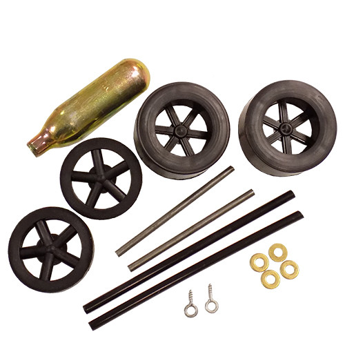 ABS Dragster Wheel Kit with CO2 Cartridge, Black