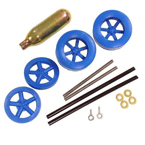 ABS Dragster Wheel Kit with CO2 Cartridge, Blue
