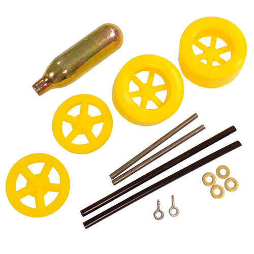 ABS Dragster Wheel Kit with CO2 Cartridge, Yellow