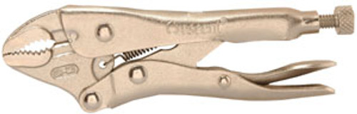 """Crescent Locking Pliers Curved Jaw w/Wire Cutter, 5"""""""