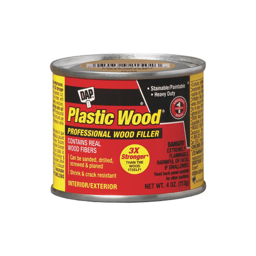 Dap Plastic Wood Solvent Professional Wood Filler, Light Oak