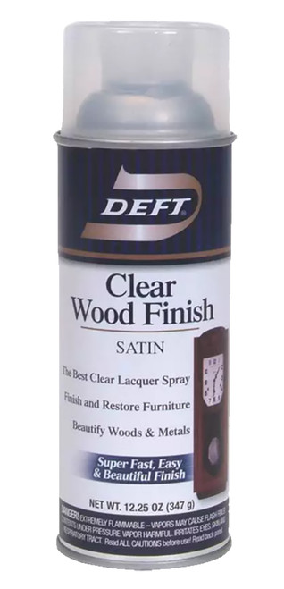 Deft Clear Wood Finish Spray Lacquer, Satin