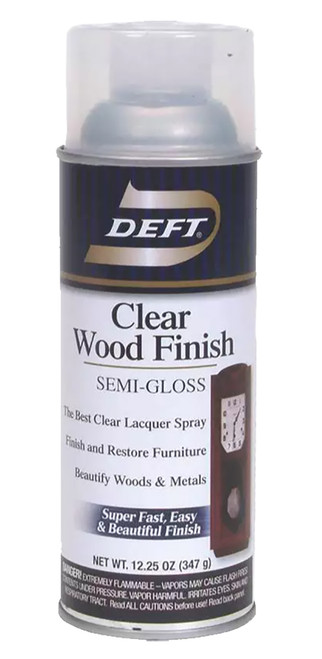 Deft Clear Wood Finish Spray Lacquer, Semi-Gloss