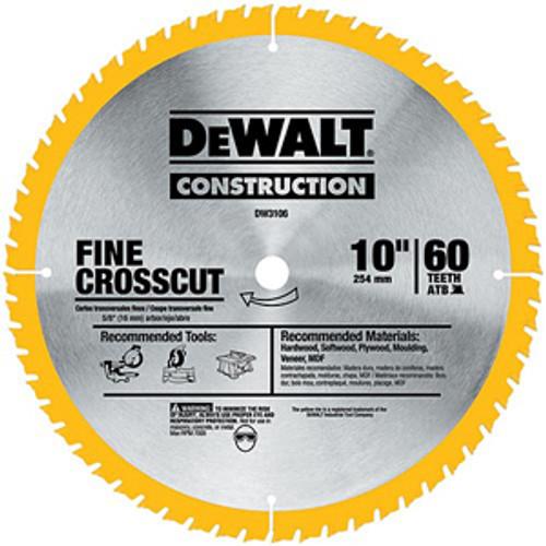 "DeWalt Fine Crosscut Construction Saw Blade, 12"""