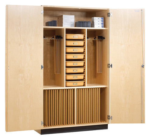 Diversified Woodcrafts Drafting Supply Cabinet 24 Students with Tools