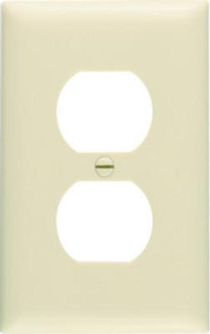 Pass & Seymour Duplex Plate, Ivory