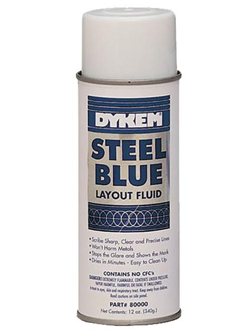 Dykem Steel Blue Layout Fluid, 16 oz. aerosol
