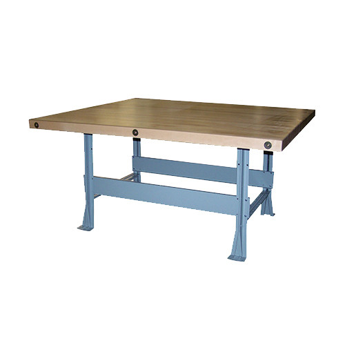"""Midwest Economy Work Bench 4 Station with 4 Wilton Vises (7"""")"""