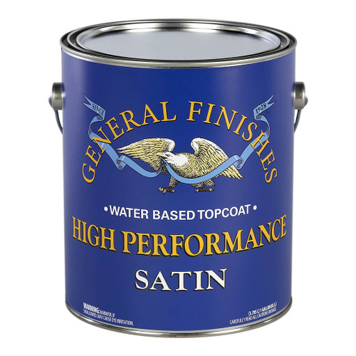 General Finishes High-performance Polyurethane Water-Based Topcoat, Satin, Gal.