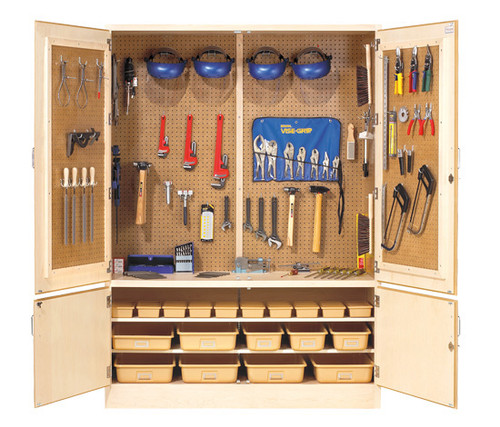 """Diversified Woodcrafts 60"""" Electricity Tool Cabinet with Tools"""