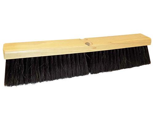 "Weiler Fine Sweeps Black Horsehair & Poly Blend, 18"""
