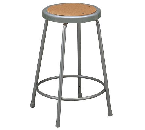 "Krueger Industrial Masonite Seat Stool, Fixed-Height, 18"""