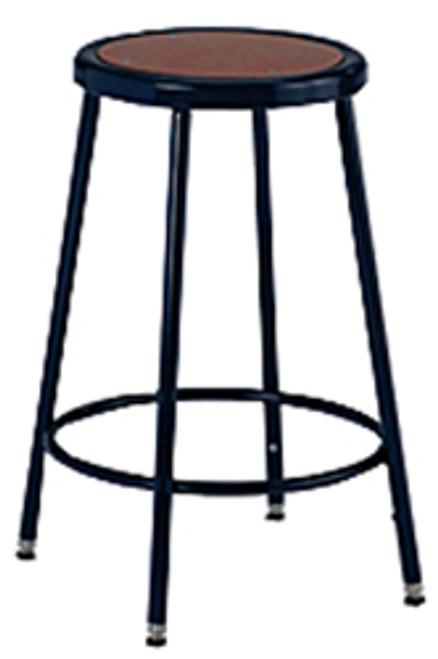 "Krueger Industrial Masonite Seat Stool, Fixed-Height, 24"""