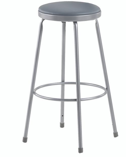 """Krueger Upholstered Seat Stool, Fixed-height, 24""""H"""