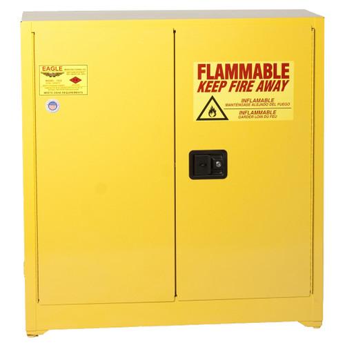 Eagle Flammable Liquid Cabinet, 2-Door, Manual Close, 30 Gal.