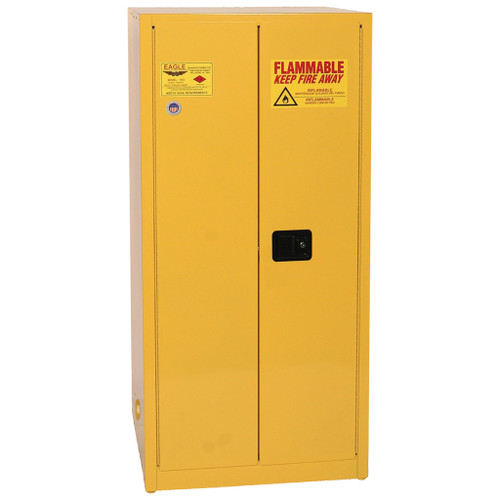 Eagle Flammable Liquid Cabinet, 2-Door, Manual Close, 60 Gal.