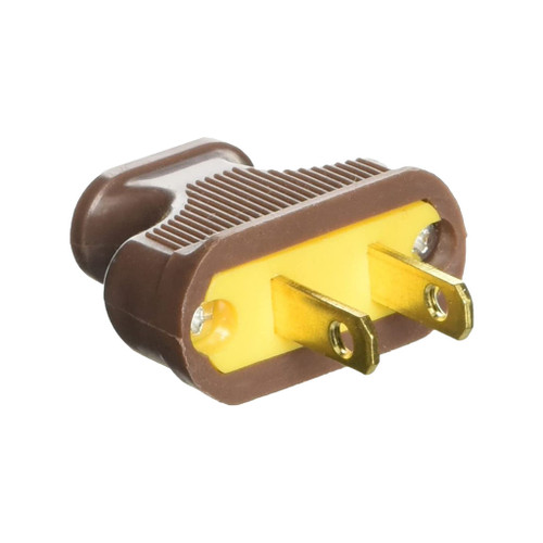 Pass & Seymour Flat Handle Straight Blade Plugs, Brown