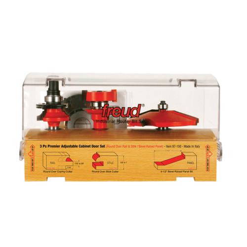 Freud 3-Piece Premier Adjustable Cabinet Bit Set