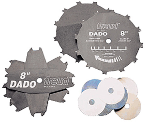 "Freud Carbide-tipped Pro Dado Sets, 8"""