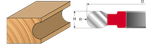 """Freud Convex Radius Cutters, 2-7/8"""", 3/8"""""""
