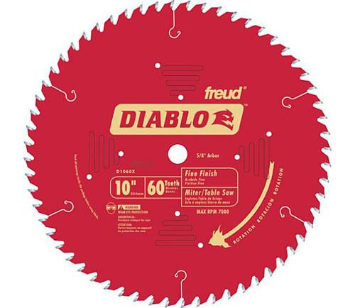 "Freud Diablo 10"" CT Fine Finish Crosscut Saw Blade"