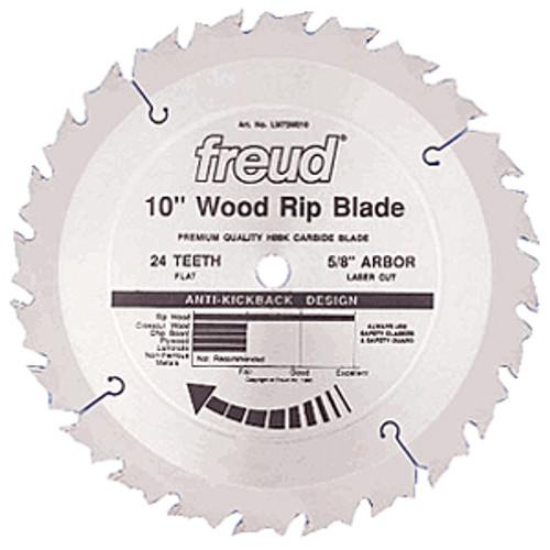 "Freud Fine Finish Rip LM72M Saw Blade, 10"" x 24T"